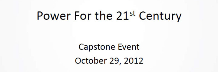 View the Presentation from Last Night's Capstone Event