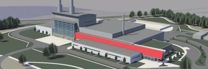 Video: 3D CAD Projection of Holland Energy Park Construction