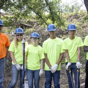 Holland Youth Connections Teens Beautify Energy Park